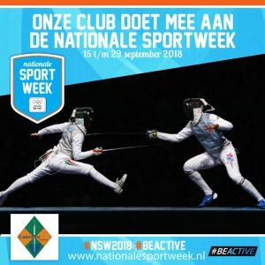 schermen nationale sportweek